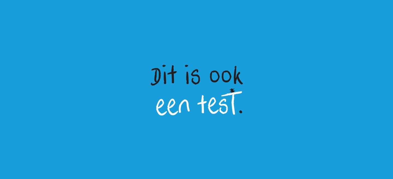 Dit is ook een test.